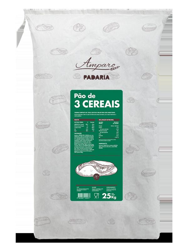 Saco 25KG Amparo Padaria Pão de 3 Cereais