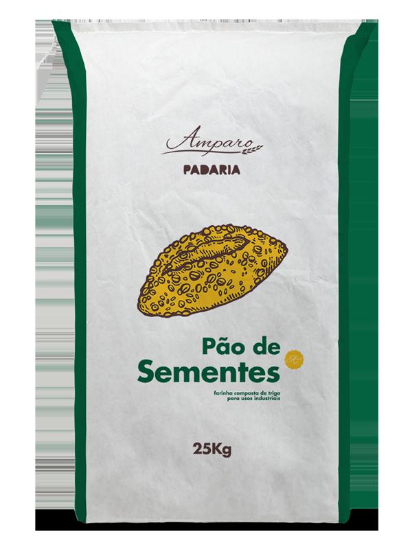 Saco 25KG Amparo Padaria Pão de Sementes